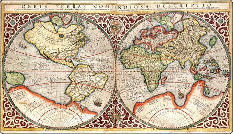 Mapa z pierwszego atlasu Merkatora